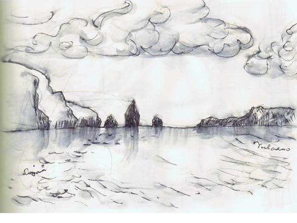 Reiseskizzen Liparische Inseln mnutzDesign