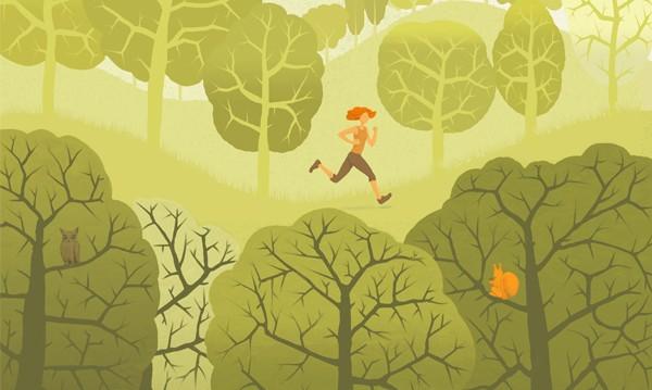 Freiräume: Illustrationen zur Bewegung in der Natur