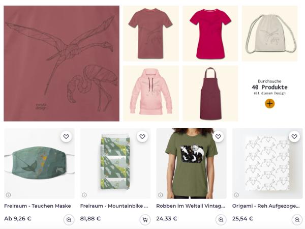 mnutzDesign Onlineshops Spreadshirt Teepublic Redbubble
